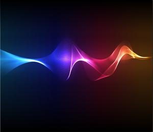 Arte vetorial de ondas de fumaça colorida