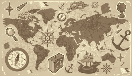Elementos de viaje y turismo de Vector 2