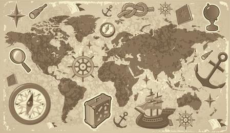 Reise- und Tourismuselemente von Vektor 2
