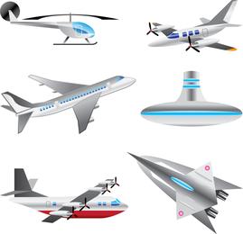 Conjunto de vetores de aeronaves