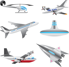 Set of aircraft vectors