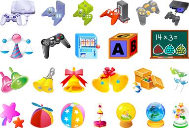 El cuarto vector de juguetes para niños
