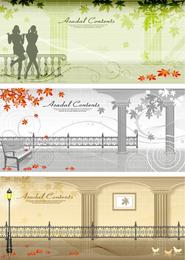 Calle otoño vector