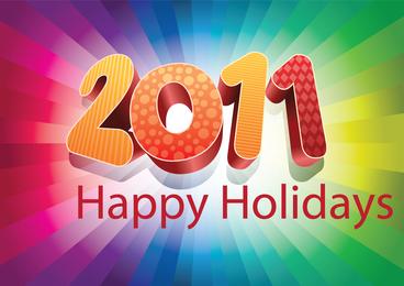 2011 Happy Holidays sign
