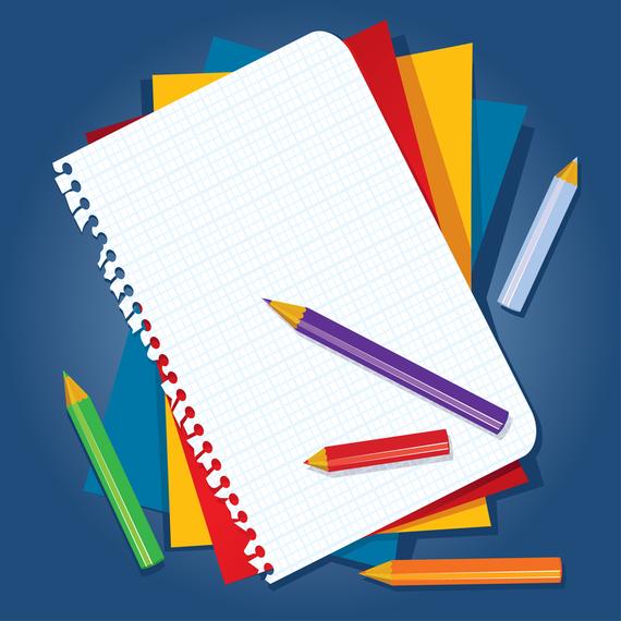 Book And Color Pencil Vector - Vector download