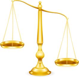 Vector de tema de justicia
