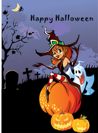 Halloween Theme Design Vector Illustration