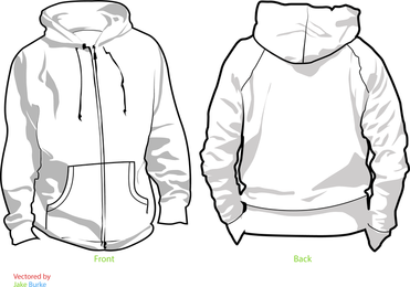 Blank hoodie mockup set - Vector download
