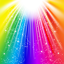 Symphony Of Light Rays Vector Graphic
