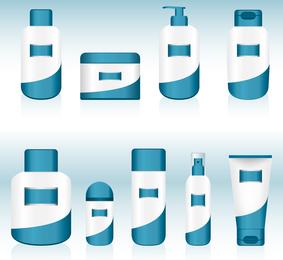 Vetor de recipiente cosmético 05