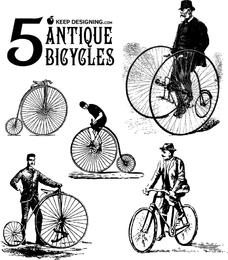 Antike Fahrrad-Vektorgrafiken