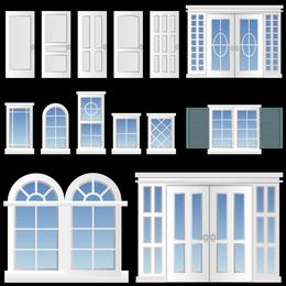 Europeanstyle Windows E Portas Vector