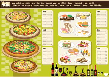 Restaurante Menu Design 04 Vector