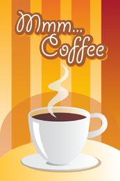 Vetor de tema de café aromático