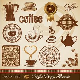Vetor de tema de café ouro