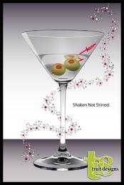 Vidro de martini do vetor
