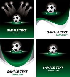 Conjunto de diseño de tarjeta de fútbol soccer