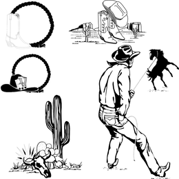 Clipart de preto e branco de Wrangler