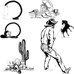 Imágenes prediseñadas de Wrangler en blanco y negro