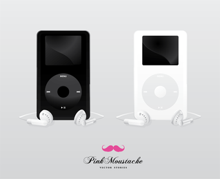 Ipod mockup templates in black and white