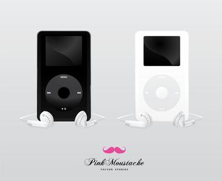Modelos de maquete Ipod em preto e branco