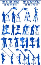 Personajes de la película vector