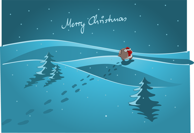 Santa Footprints Vector