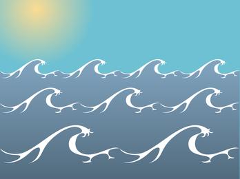 Ocean Sea Waves Vector