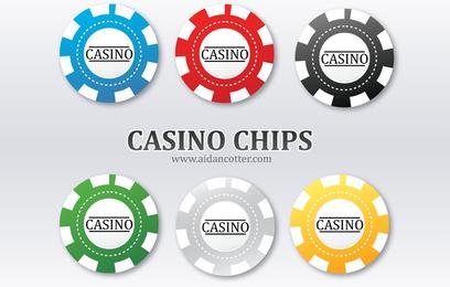 De Poker Chip Vectors
