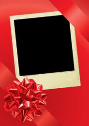 Cinta roja y el vector foto polaroid