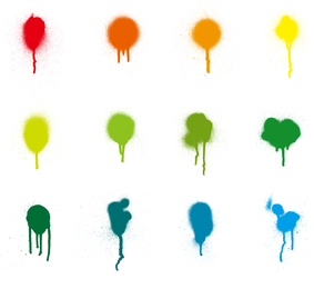 Colorful Paint Splash Vector Set