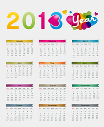 Colorful 2013 Calendar Vector Illustration
