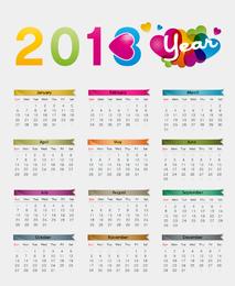 Ilustração colorida do vetor do calendário 2013