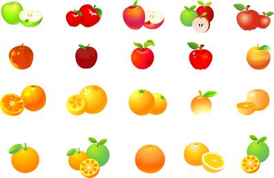 Apples Oranges Vector