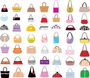 Vector conjunto de sacos de mulher