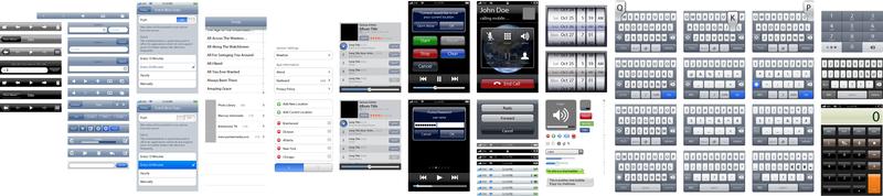Kit de herramientas de diseño de interfaz de usuario Iphone Ui elementos vectoriales