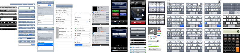 User Interface Design Toolkit Iphone UI-Vektorelemente