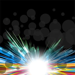 Multicolor Design With A Burst Vector Graphic