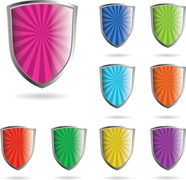 Crystal Shield Style Vector