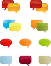 Vector de burbujas de diálogo de color claro