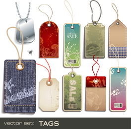 Collection of sale tags