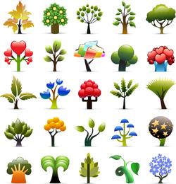 Trabajos no originales de vectores de plantas