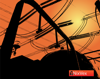 Nixvex Atomic Power Station Free Vector Image