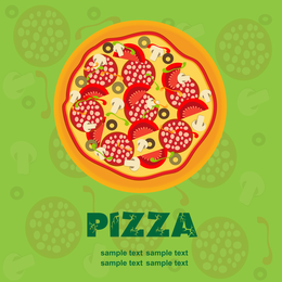 Pizza Illustrator 02 Vector