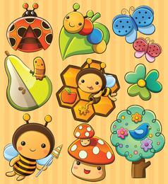 La encantadora planta de insectos 01 Vector
