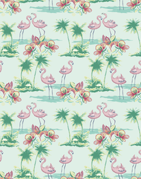 Flamingo illustration pattern