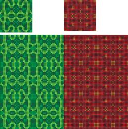 Gewebe-Gewebe-Kilt-Rot-Grün von Schottland