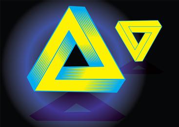 Vetor de triângulo mágico