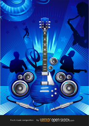 Vector de concierto de rock gratis