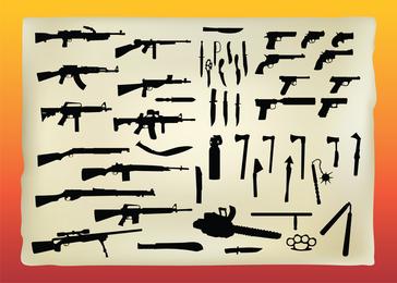 Kostenlose Waffen-Vektorgrafiken